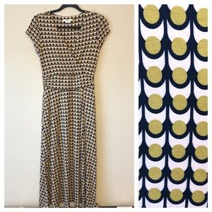 Boden Yellow Lily Jersey Dress
